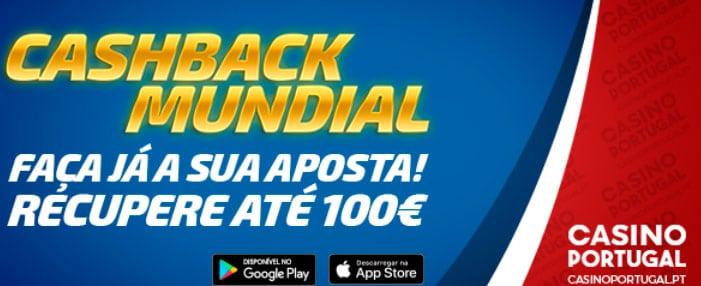 Cashback Mundial 2018 - Recebe a devolução da sua aposta perdida até 100€