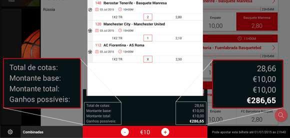 App para apostas