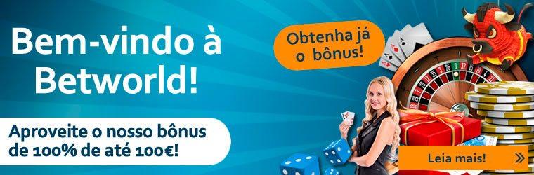 Bónus Casino Betworld - 100% até 100€