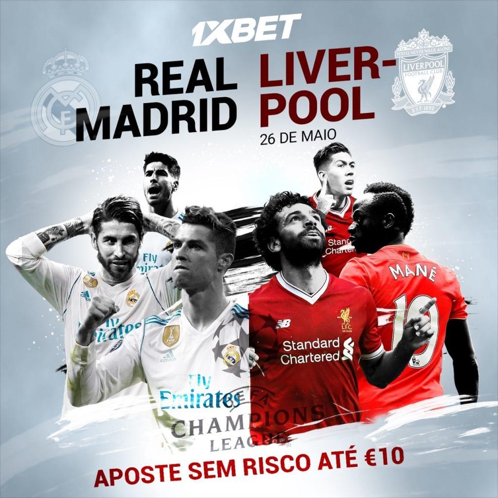 1xbet: Código promocional Liga dos Campeões - aposta grátis na final