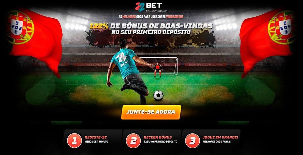 22bet Portugal, uma das melhores casas de apostas online no nosso país!