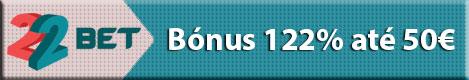 22bet - Bónus 122% até 50€