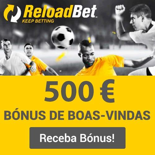 ReloadBet Portugal - Bónus de 100% até 500€