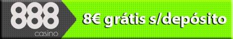 888 Casino - 8€ grátis, sem depósito