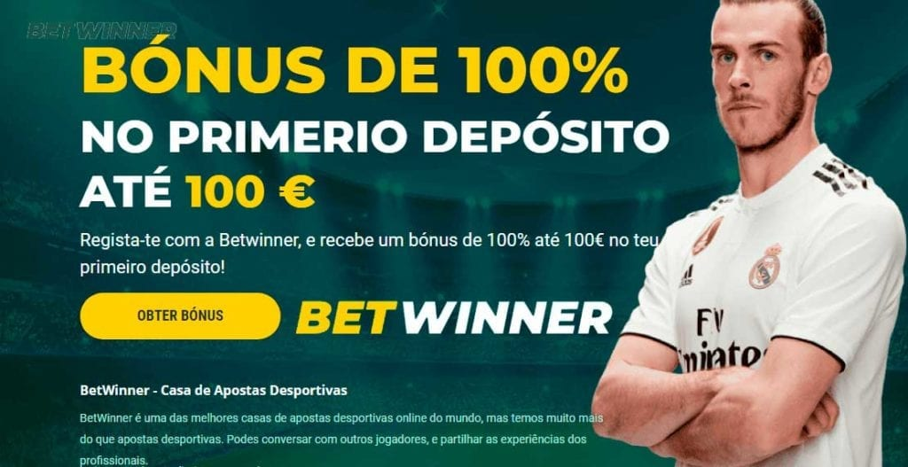 Betwinner Portugal - Bónus de 100% até 100 EUR