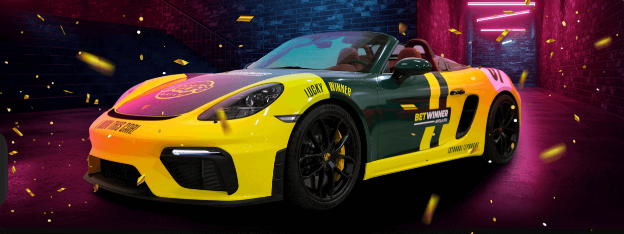 Ganhe um Porsche na Betwinner