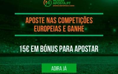 Bónus Nossa Aposta para as competições europeias de futebol