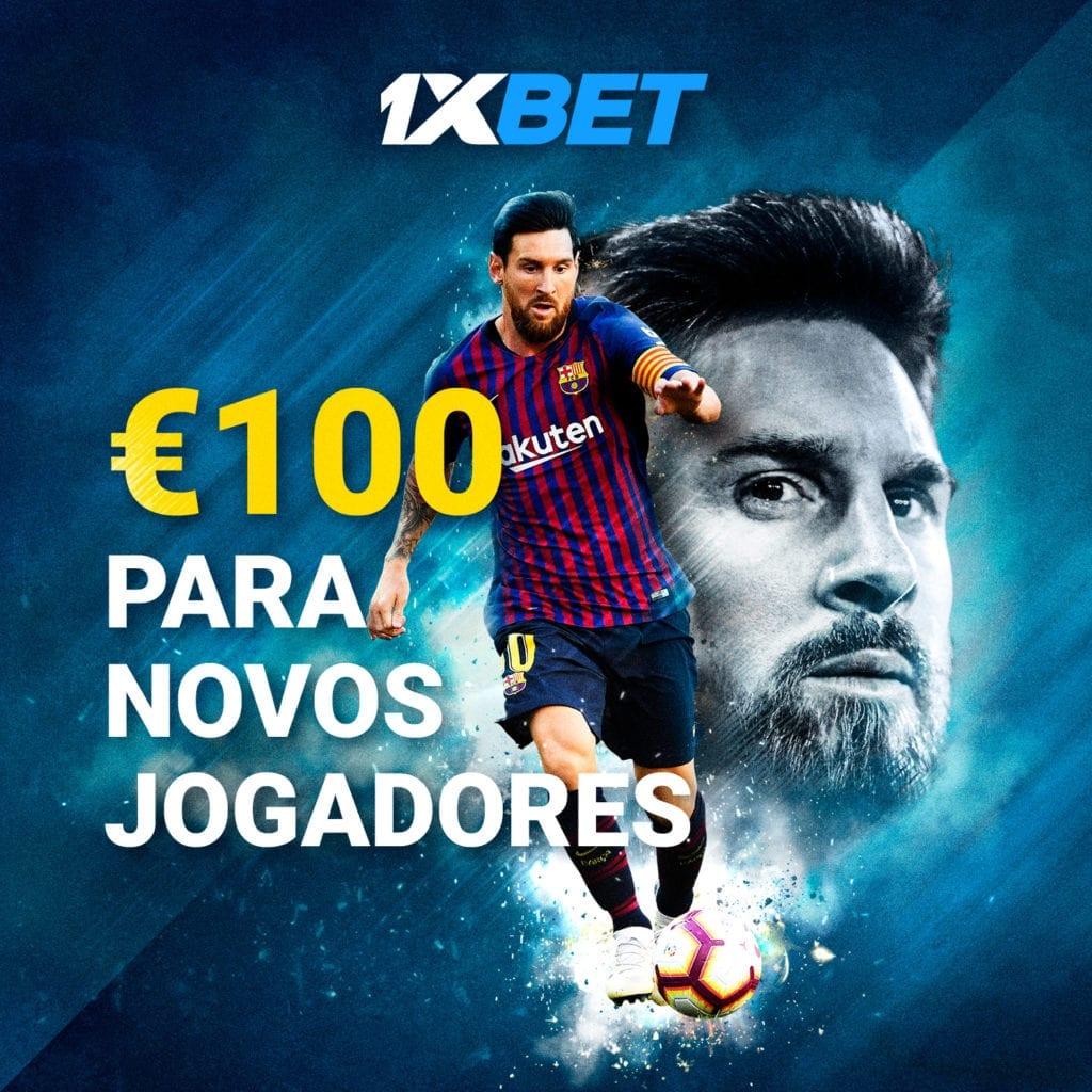 1xbet Portugal: €100 para novos jogadores