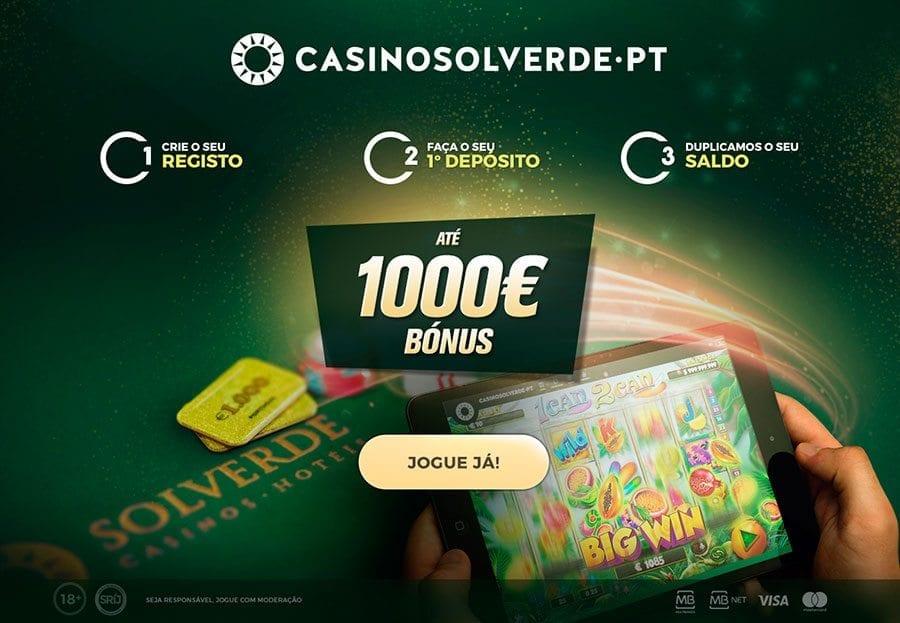 Casino Solverde Online com bónus de boas-vindas de 100% até 1000€!