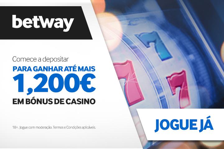 Bónus Betway para casino online: Ganhe até 1200€ nos primeiros 5 depósitos