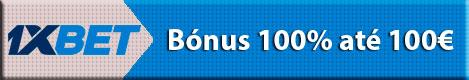 1xbet - Bónus 100% até 100€