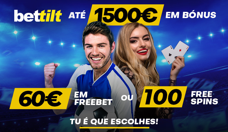 Bettilt Portugal: Bónus até 1500€ + freebet 60€ ou 100 free spins