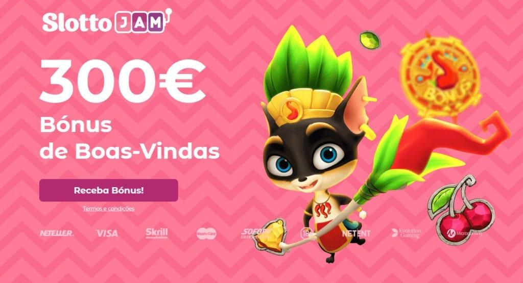 SlottoJam Portugal: Bónus 100% até 300€ no primeiro depósito!