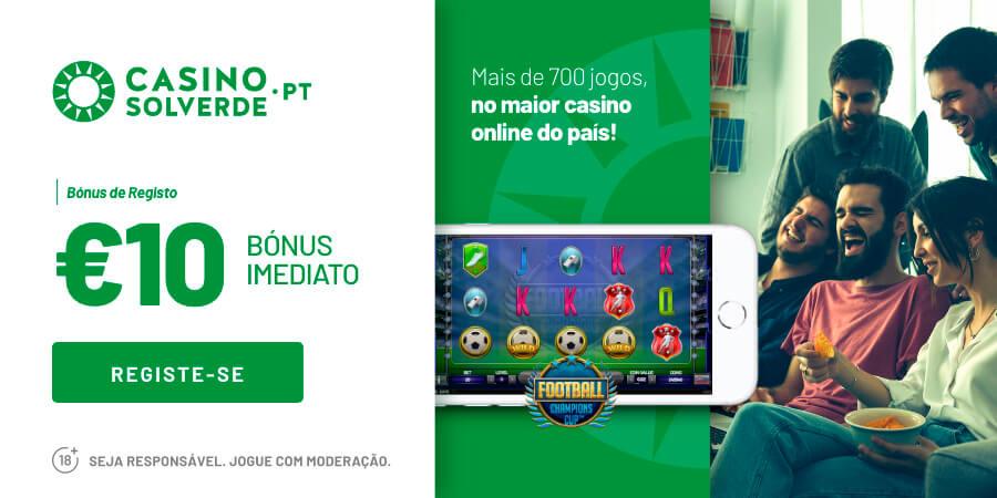 Solverde Casino: Bónus grátis até 10€!