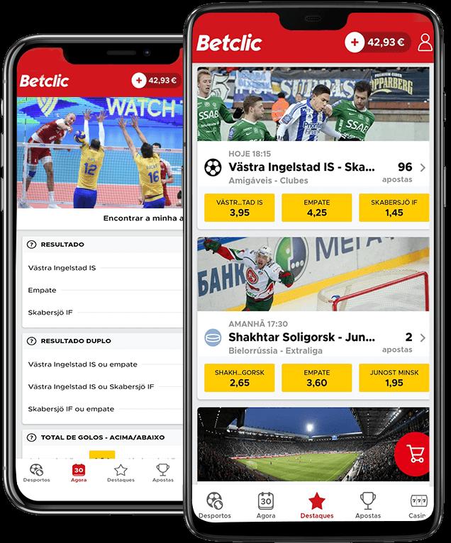Baixe a Betclic app
