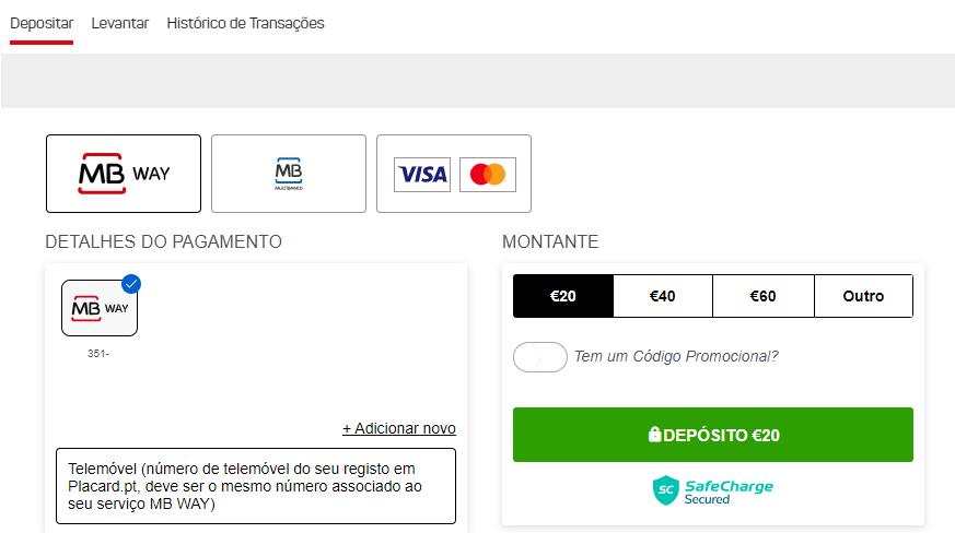 Deposite no Placard Online