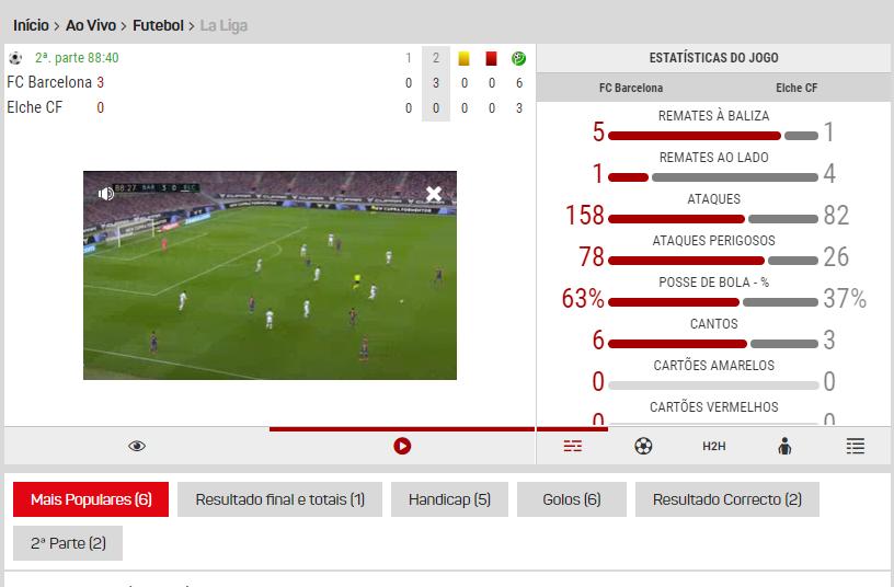 Veja futebol no Placard LiveStreaming