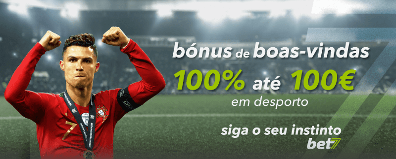 Bónus Bet7 Portugal: 100% até 100€ em apostas desportivas!