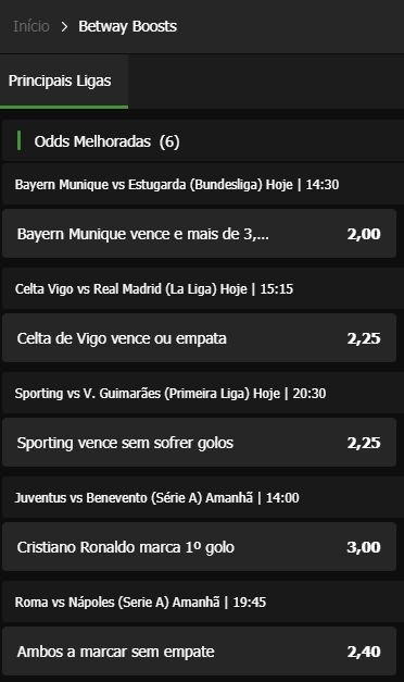 Aproveite o Betway Boost
