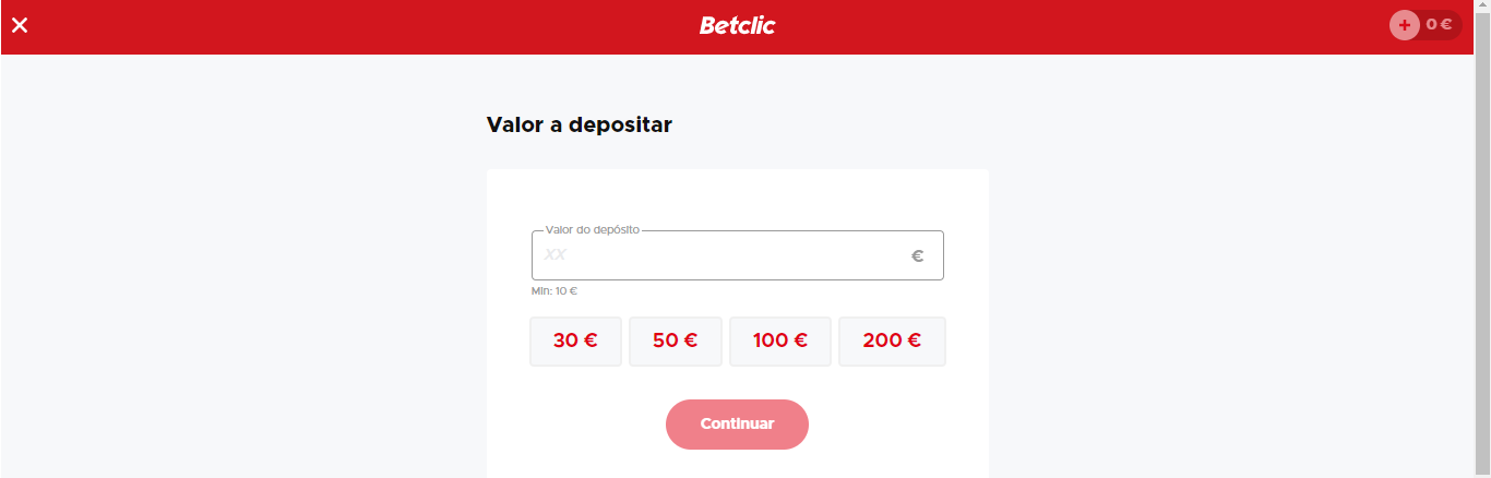 Faça depósitos na Betclic!