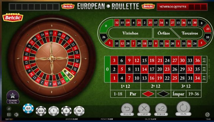 Jogue a melhor roleta na Betclic Casino!