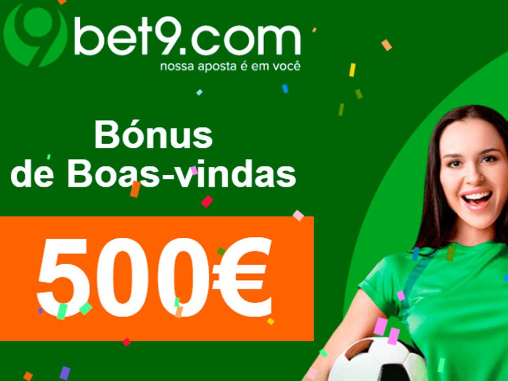 Bet 9 bónus de boas-vindas de 100% até 500€