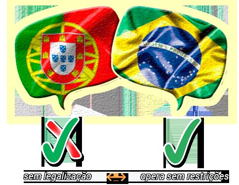 22bet não é legal em Portugal, mas opera sem restrições no Brasil.