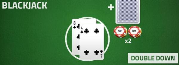 blackjack - double