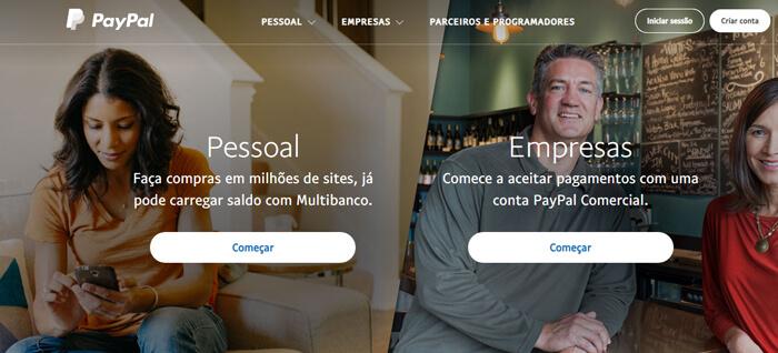 Como criar conta PayPal