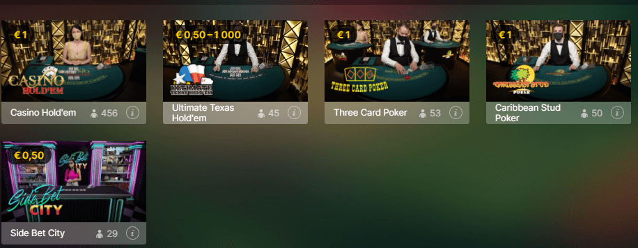 Jogue 22bet Casino ao vivo