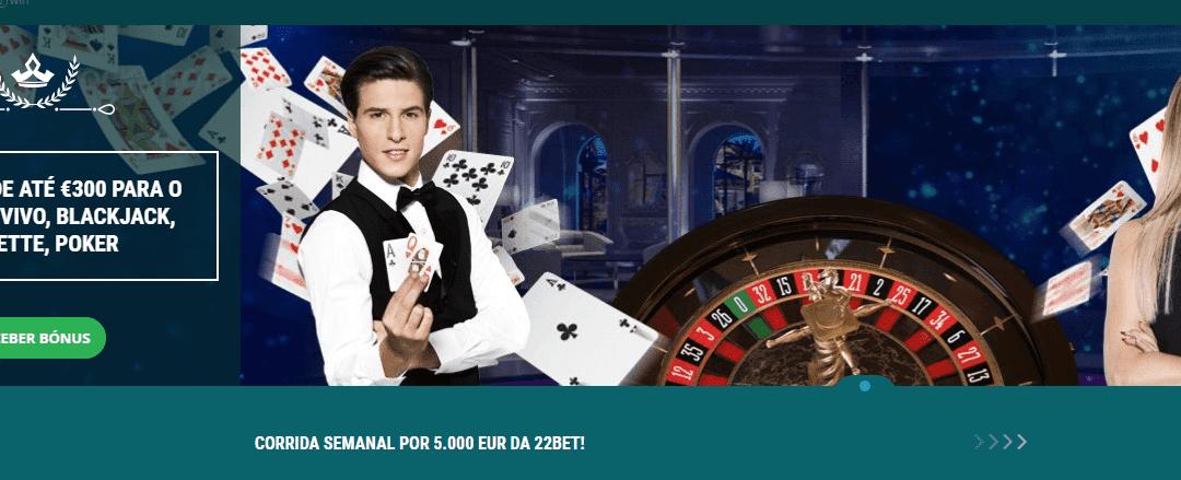 22bet casino com mais de 2200 jogos e bónus até 300€ | Review 2021