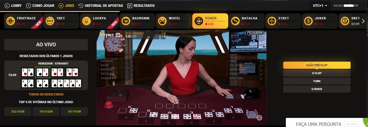 Jogue nos TV Games da 22bet casino