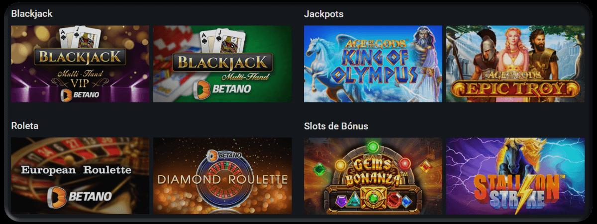 Os Jogos do Betano Casino